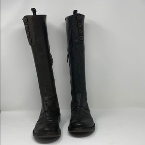 Fiorentini + Baker black tall boots 37